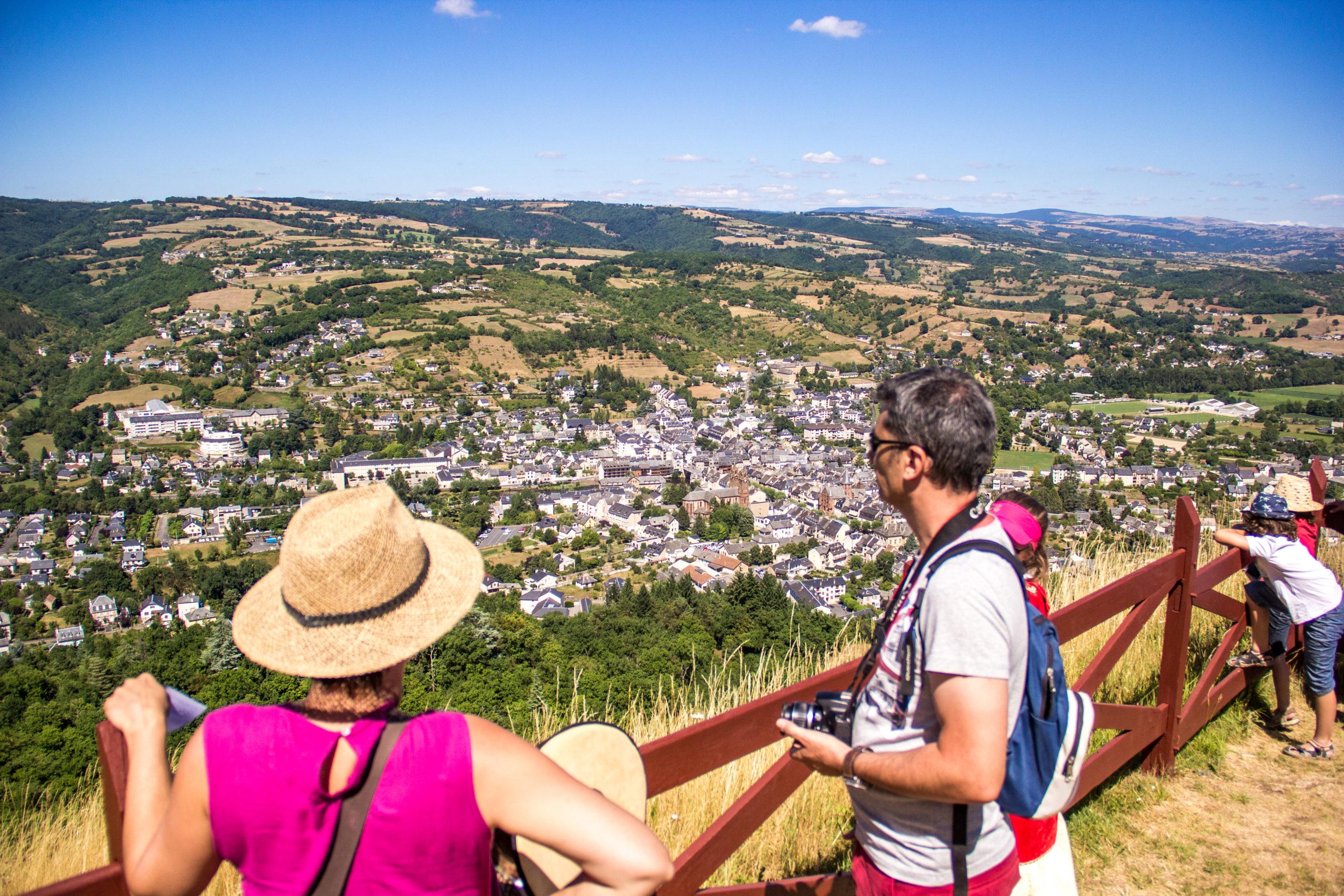 Espalion depuis le château de Calmont d'Olt